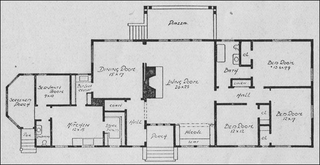 one story rectangular house plans - Rectangle House Plans