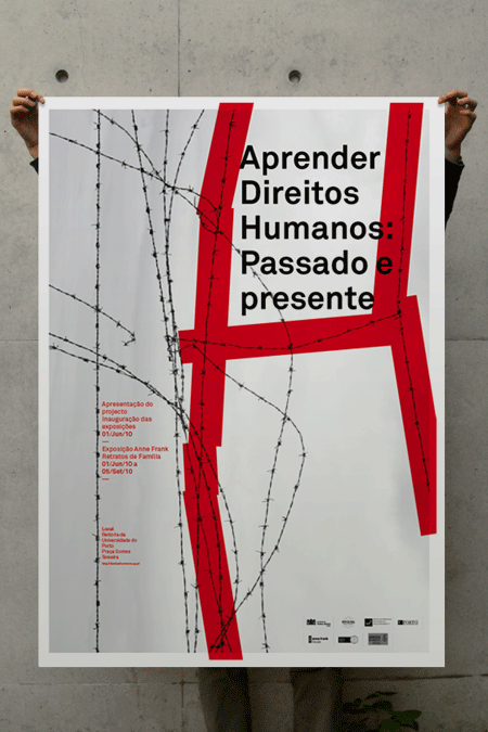 Poster developed for Universidade do Porto: a circle of conferences around learning human rights.