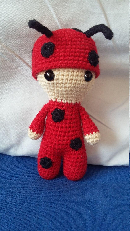 Crochet doll - Ladybug by MonkiByMonika on Etsy