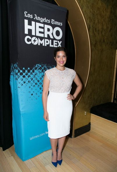 America Ferrera at the L.A. Times Hero Complex Film Festival for the 'How To Train Your Dragon 2' Screening. Hairb by Jenny Cho. Makeup by Monika Blunder. Styled by Karla Welch.