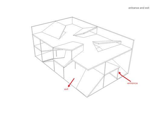 zhangke zao/standardarchitecture 标准营造 Camerich - model of 'folding house'