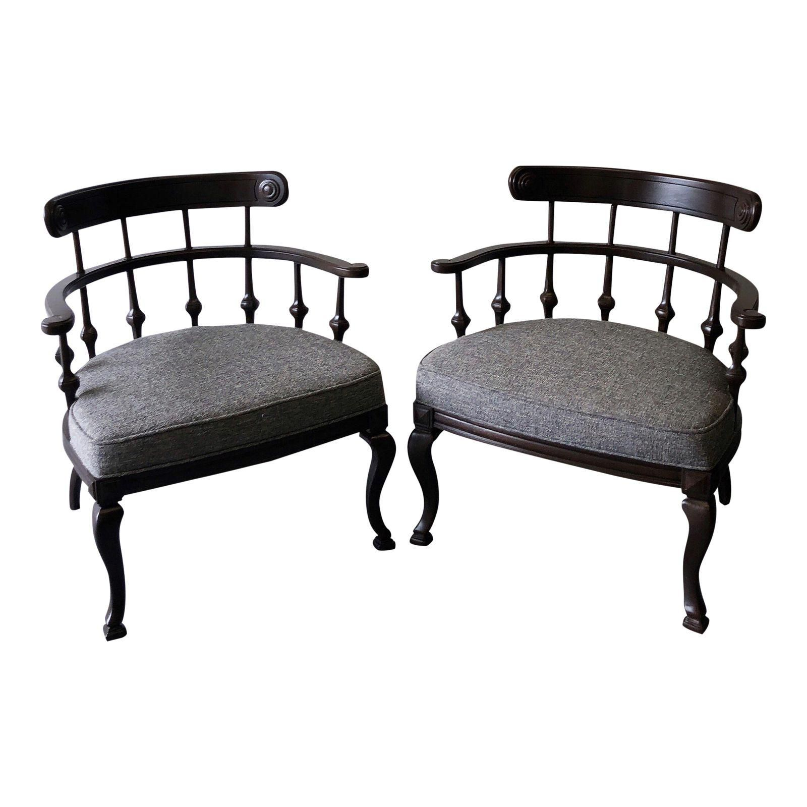 Mid Century Ranch Style Arm Chairs  A Pair  Image 1