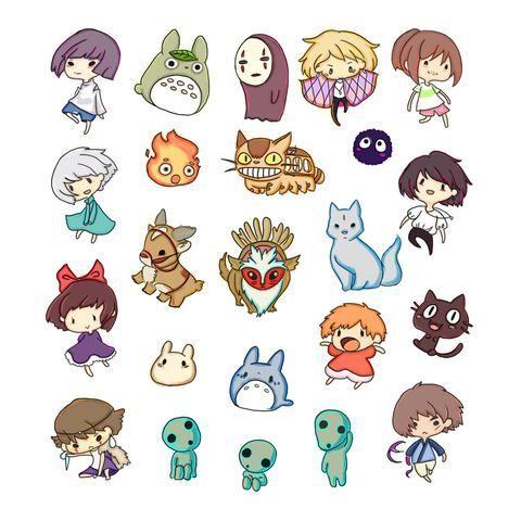 スタジオジブリ Studio Ghibli かわいい イラスト 手書き イラスト 手書き 刺繍 図案
