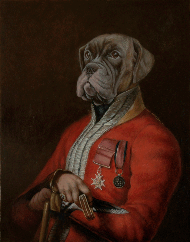 Portraits In Period Styles Military Dogs Dogs Boxer Dog