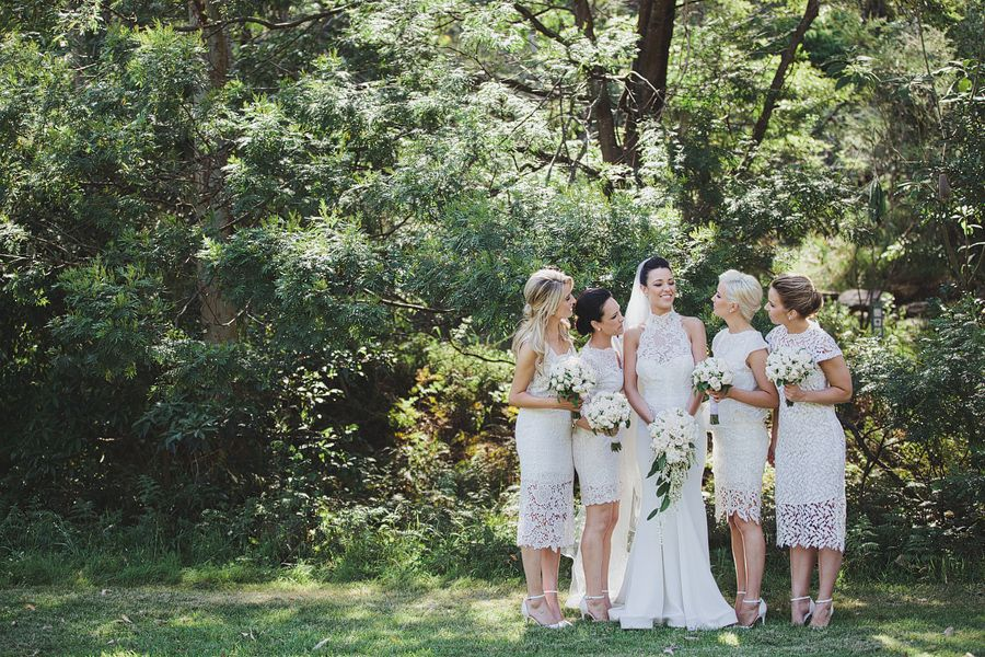 white bridesmaids dresses, bridesmaid, nice light, green