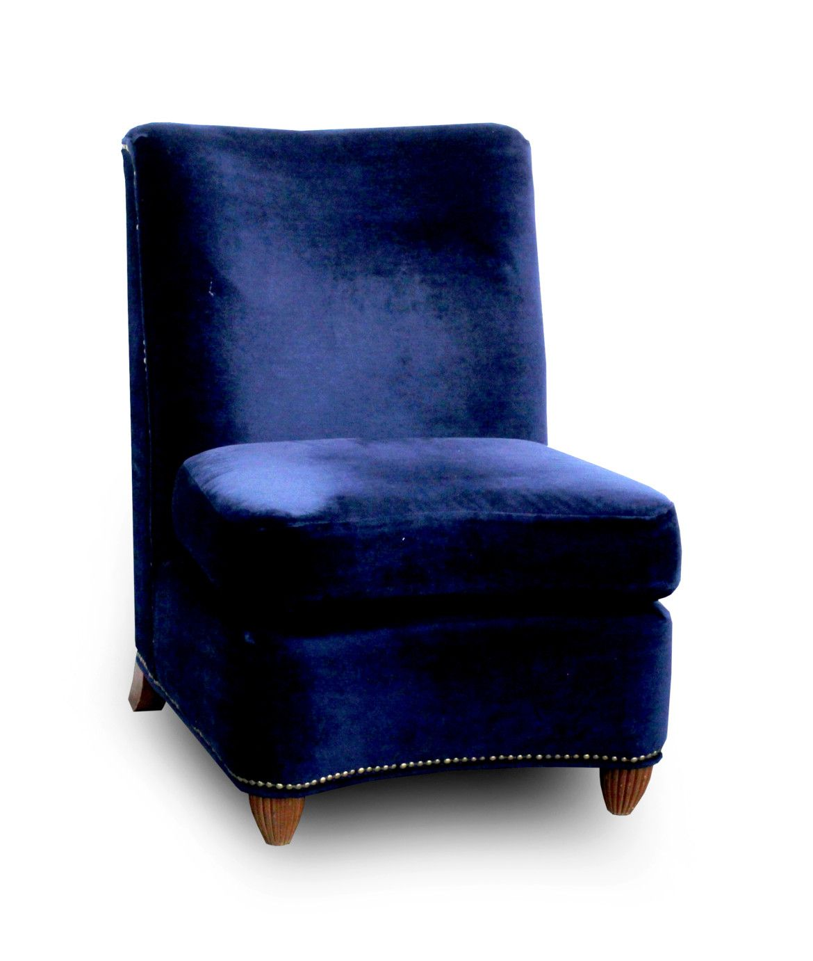 Midnight Blue Armless Chair Was $99, Now $79