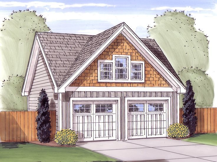 minimum size of two car garage Garage Loft Plans