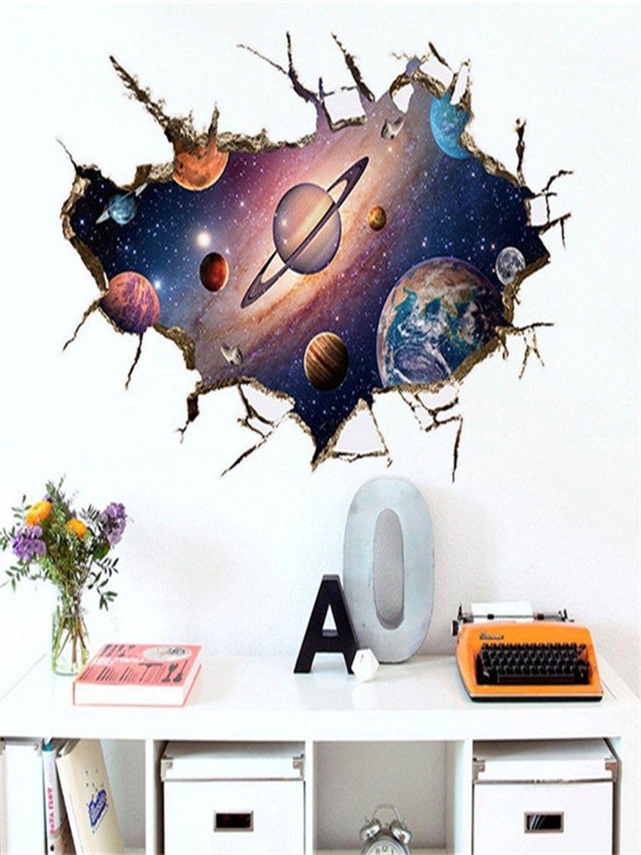 3D Broken Sky Floor Removable Art Vinyl Wall Stickers Decal Mural Decor Room DIY