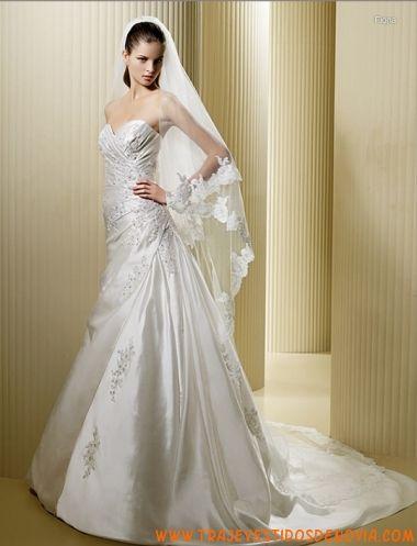 Precio vestido novia volantes