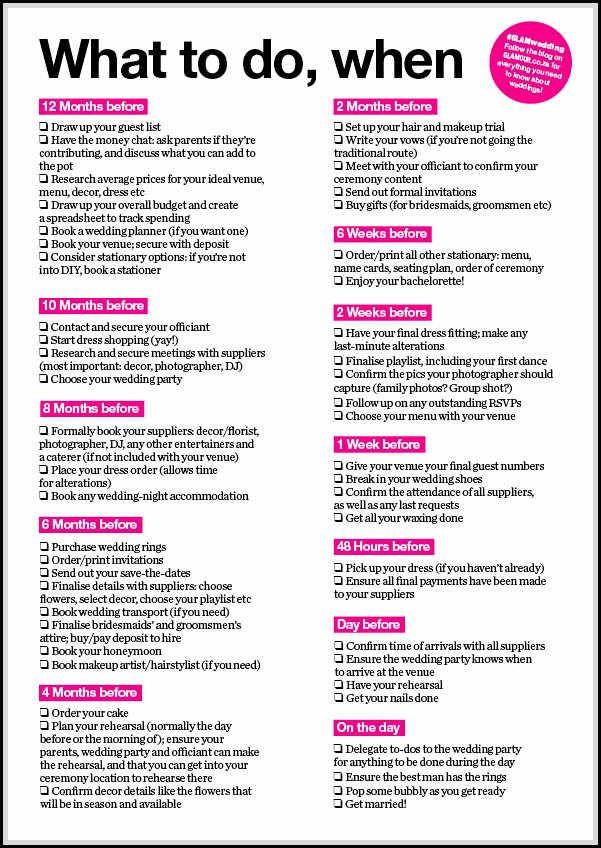 comprehensive wedding to do list for perfect wedding