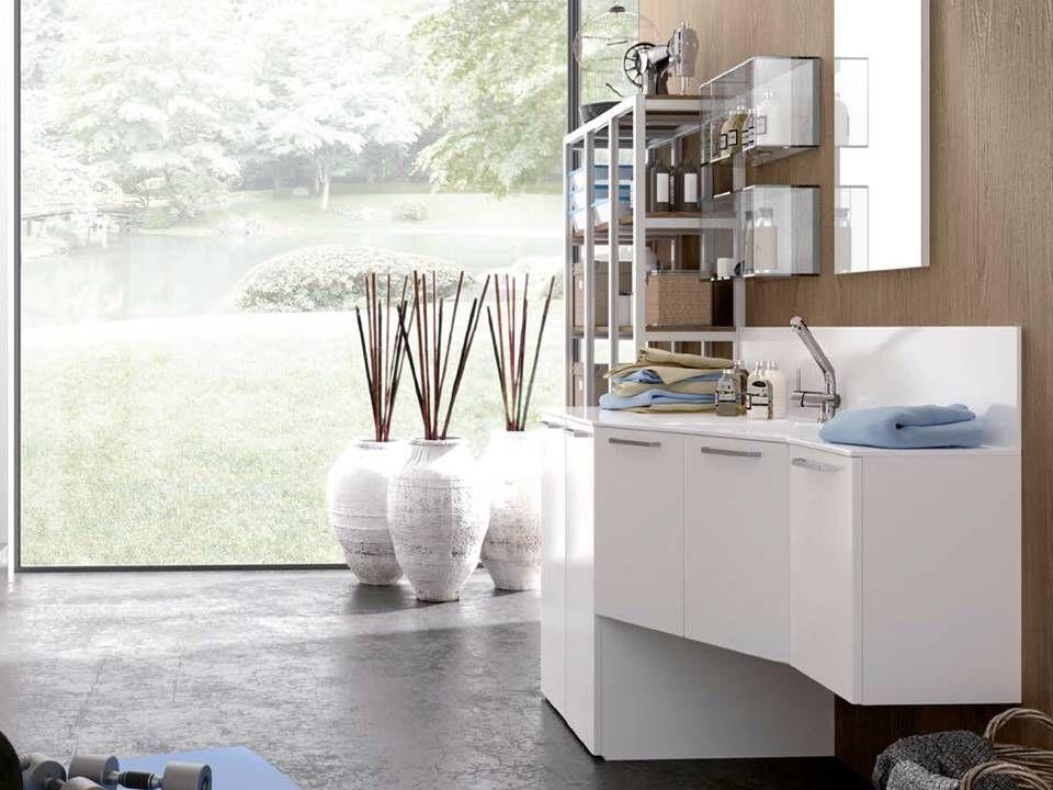 mobile bagno portalavatrice : mobile porta lavatrice con doppia ... - Arredo Bagno Lavatrice