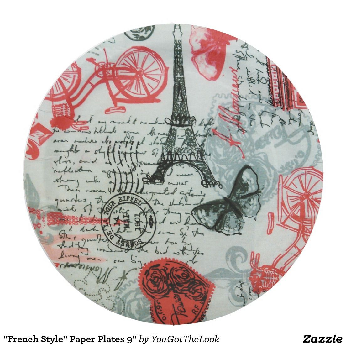 \ French Style\  Paper Plates ...  sc 1 st  Pinterest & French Style\