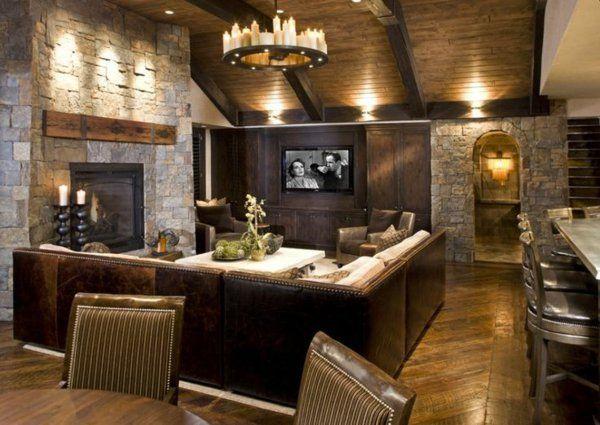 Wohnzimmer Rustikal ~ Die besten rustikale familienzimmer ideen auf
