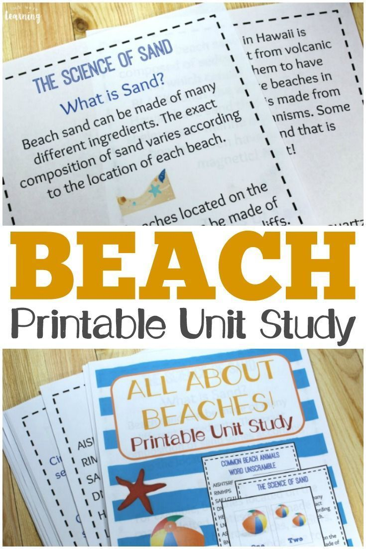 Photo of Printable Beach Unit Study: All About Beaches – Look! We're Learning!