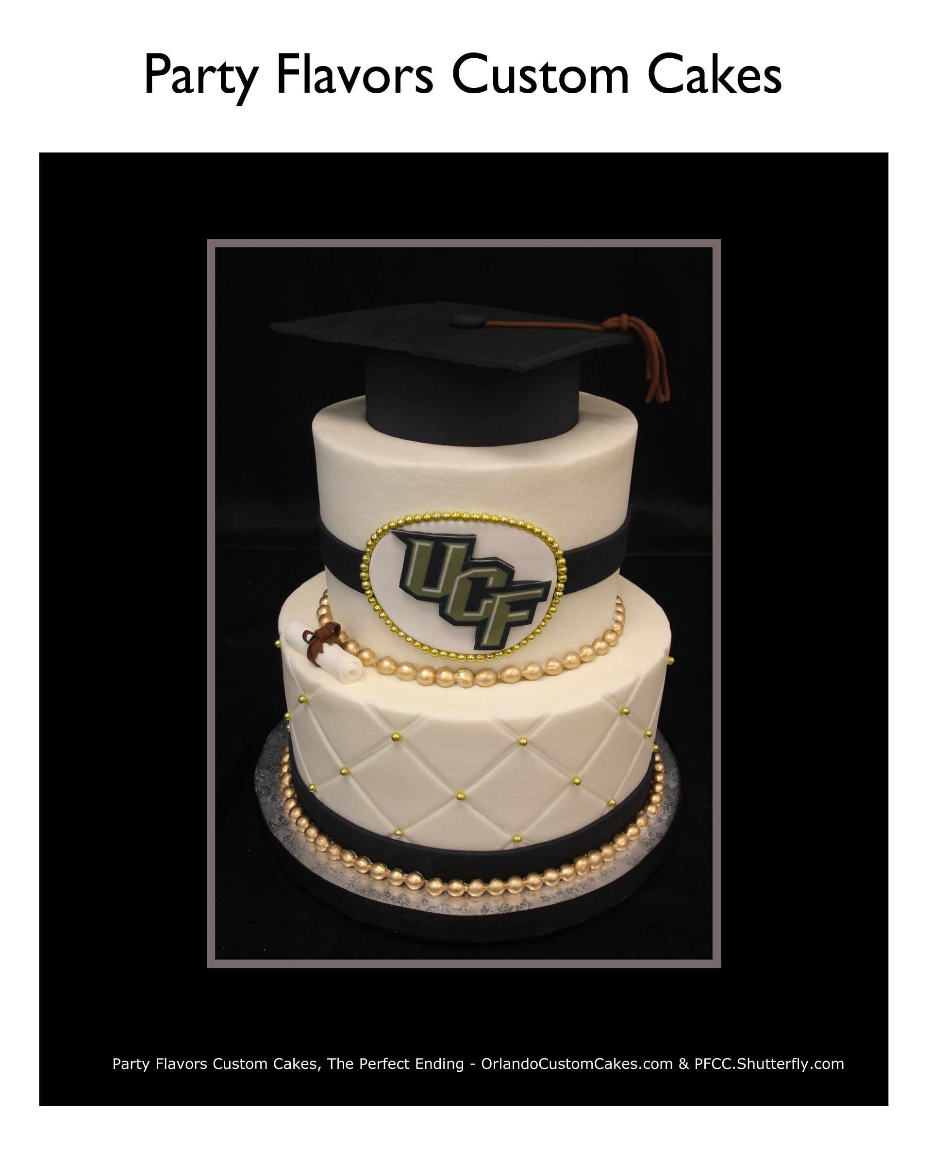 UCF Graduation Cake In Buttercream- We LOVE Our UCF Grads