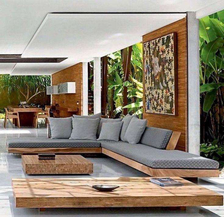 83+ Atemberaubende, stilvolle Ideen für Wohnzimmer im Freien, um Ihren Wohnraum zu erweitern – Taze 361
