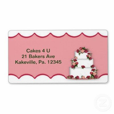 This Wedding Cake Label features a computer mouse drawn wedding cake. Great for labeling your cakes or advertising your bakery.
