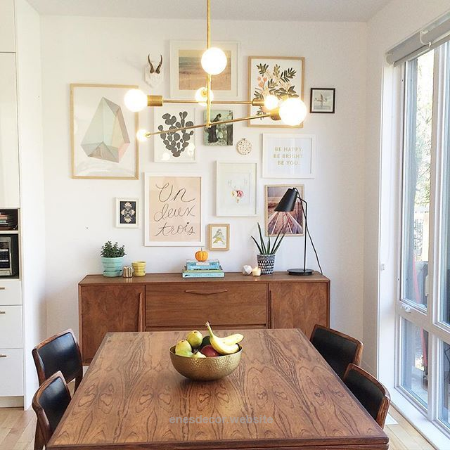 Modern Dining Room Design Midcentury Dining Room Gallery Wall Dining Room Wal Enne S Decor Dining Room Gallery Wall Mid Century Dining Room Rustic Dining Furniture