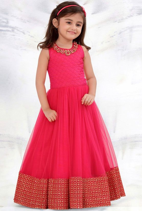 Indian designer pink plain mononet baby frock for birthday also best blouse designs images in styles saree rh pinterest