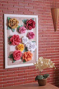 Como Fazer Flores De Papel Para Decorar Crafts Flower Wall