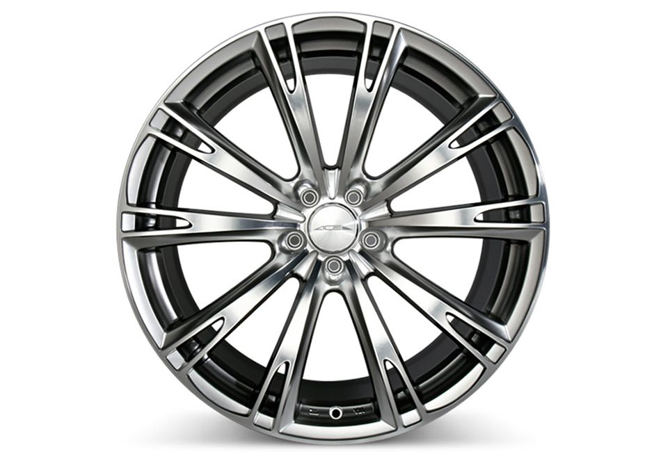 Ace Alloy Aspire Hypersilver Machined Wheel 19x8 5 05 16 629 C915 Hbpd 1985 Fusion Free Shipping Steeda Autosports Fusiones