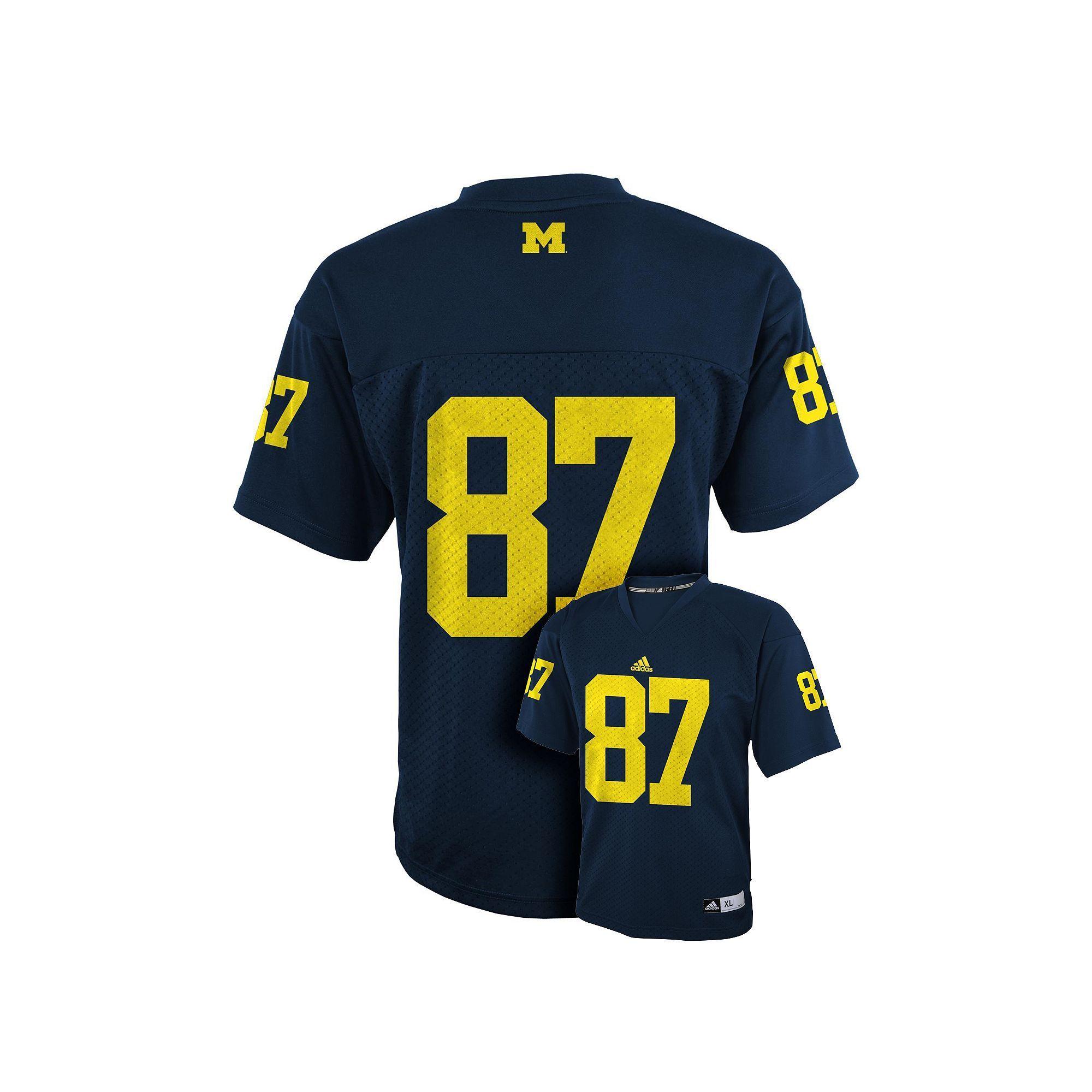 adidas Michigan Wolverines Replica Football Jersey Boys 4