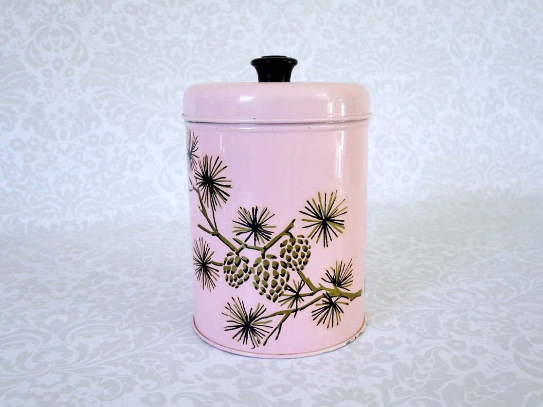 pink nesting storage tin canister retro pink metal kitchen pink nesting storage tin canister retro pink metal kitchen canister decorative pink tin storage