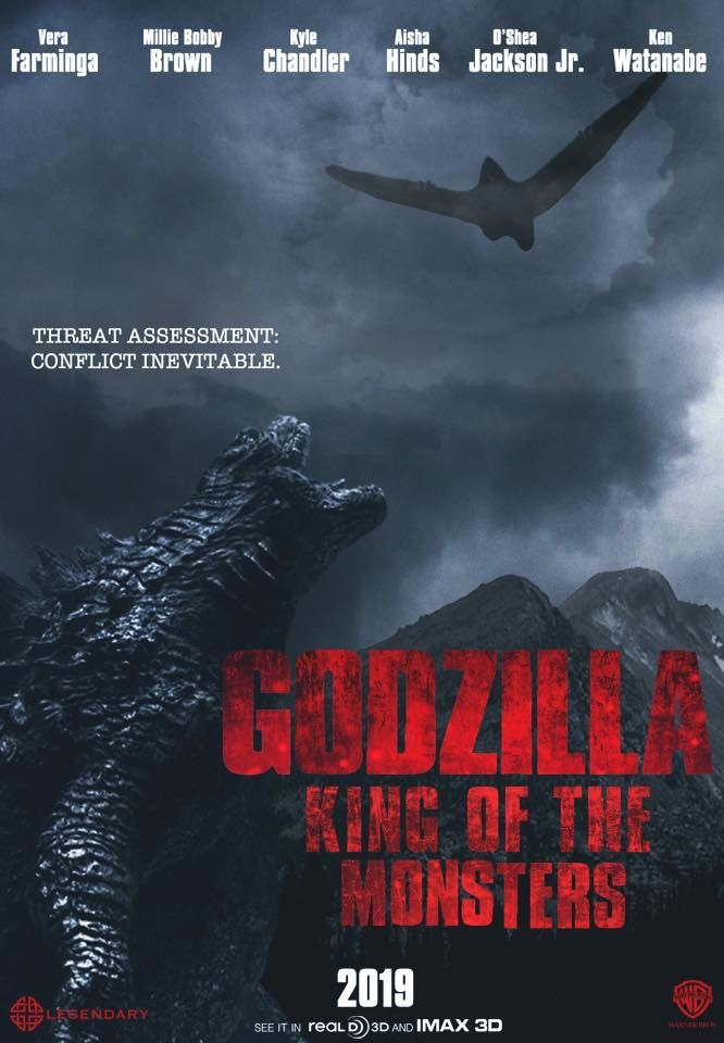 Hasil gambar untuk godzilla king of monsters official poster 2019