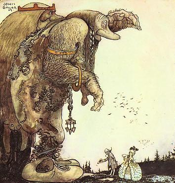 Bibliodyssey Scandinavian Trolls John Bauer Art Illustration