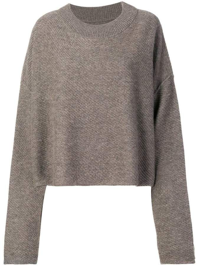 RtA Cashmere Cropped Sweater Farfetch | Sweaters, Cropped