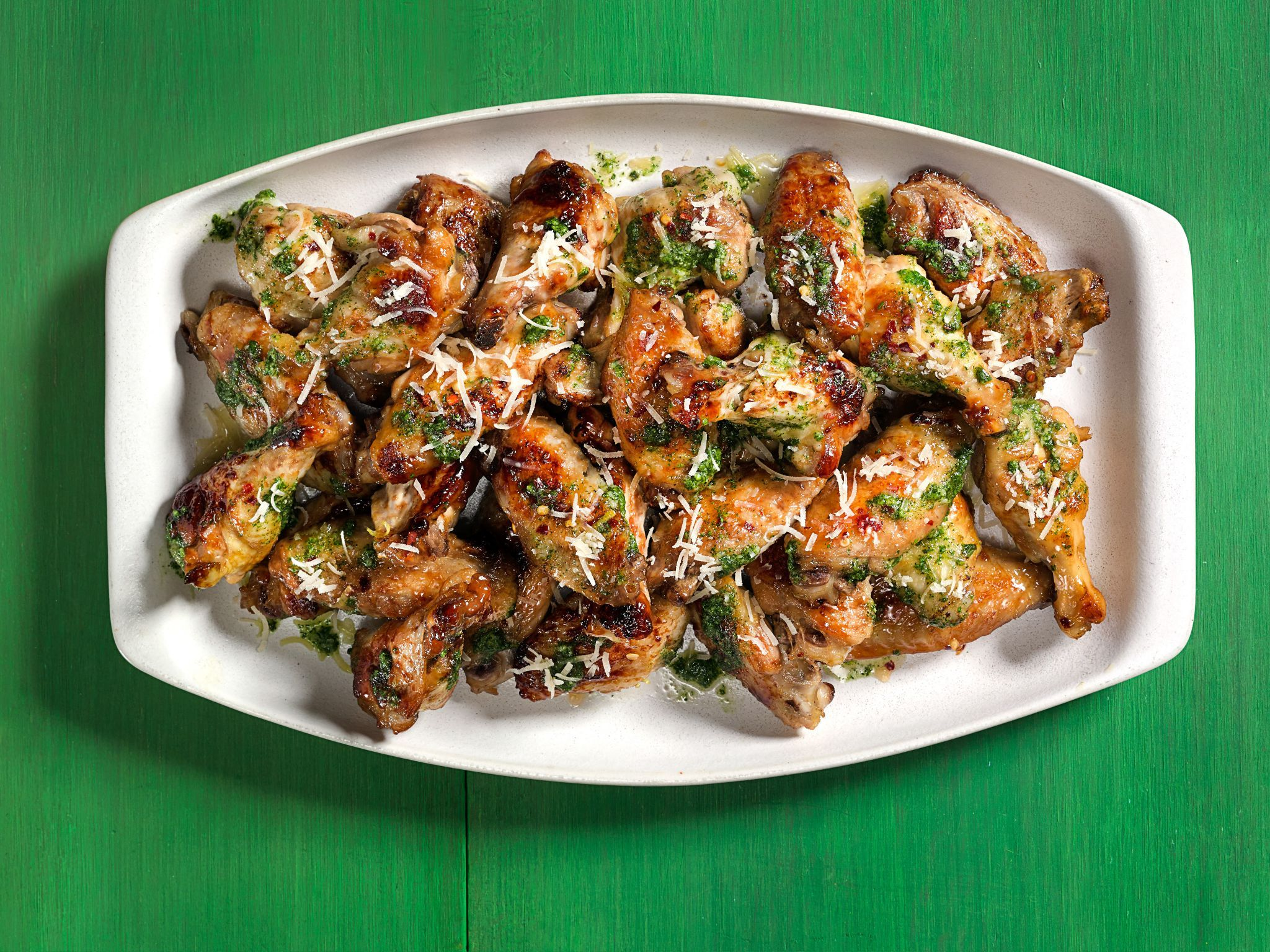 Get this all star easy to follow spicy pesto wings recipe from spicy pesto wings recipe from eddie jackson via food network forumfinder Images
