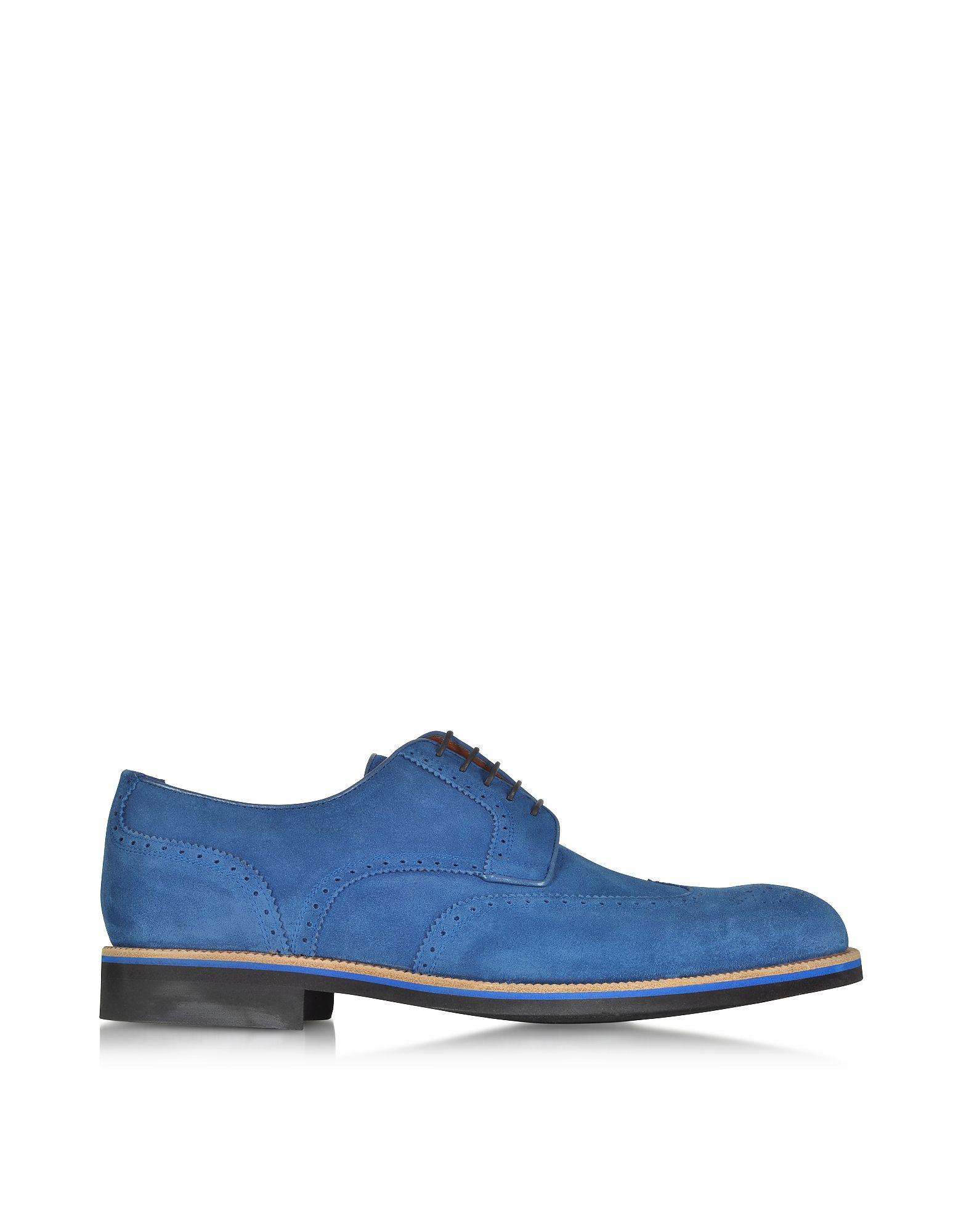 A.TESTONI Men's Suede Derby Shoes 4AoiIPM0