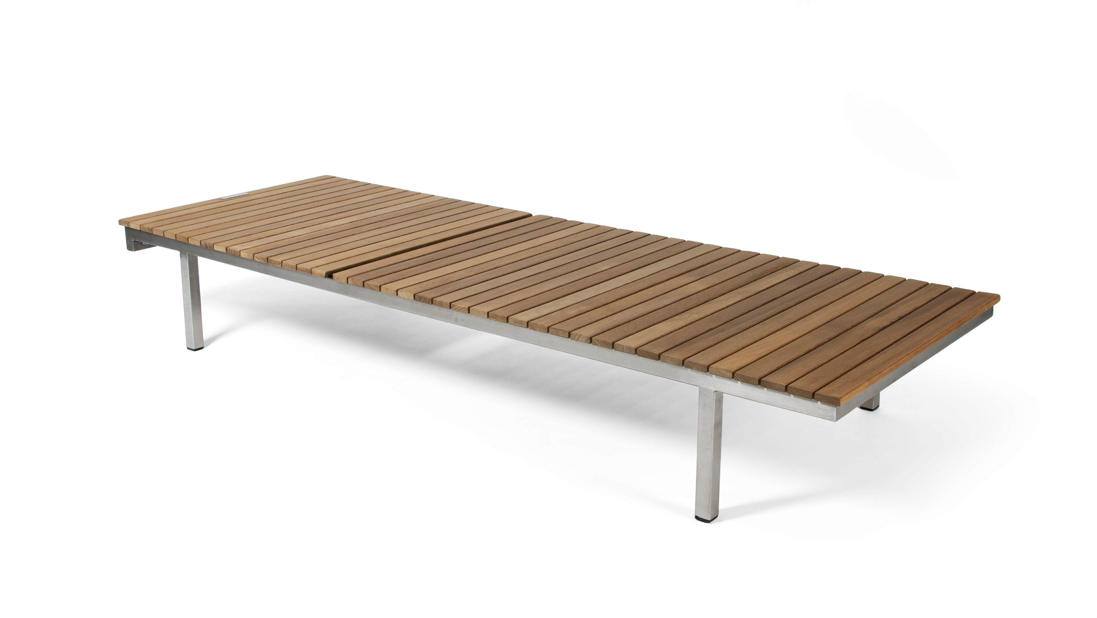 Teak garden daybed häringe häringe collection by skargaarden design carl jägnefelt teak furniture modern