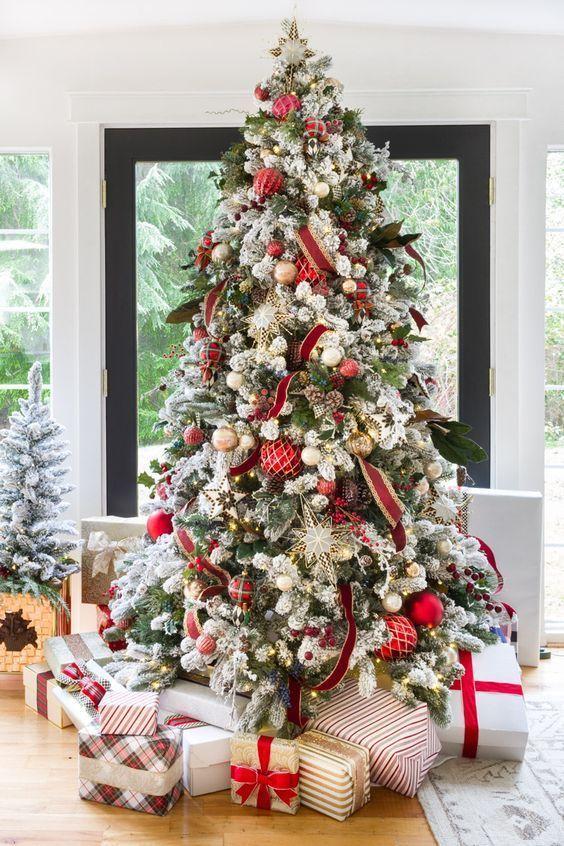 Decoracion De Arboles De Navidad Modernos Decoracion De Arboles Arboles De Navidad Modernos Arbol De Navidad Plateado