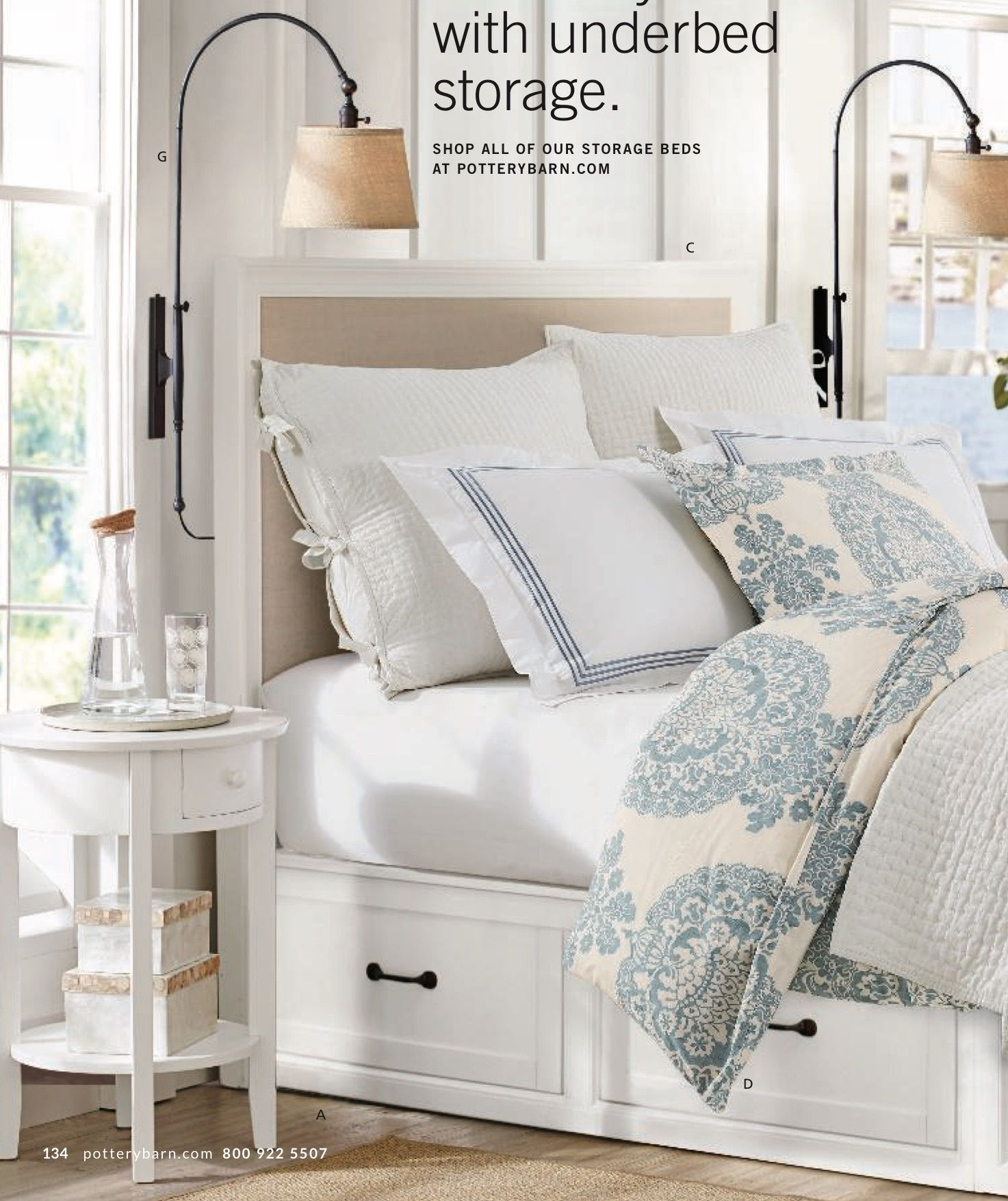 Montgomery Upholstered Headboard Attached To Stratton Bed With Drawers Must Purchase Attachment Brac Bedroom Design Bed Frame With Drawers Guest Bedroom Decor