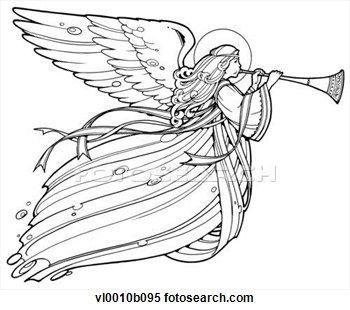 20 angel blowing trumpet clipart rh pinterest com Angel Playing Trumpet angel blowing trumpet clipart