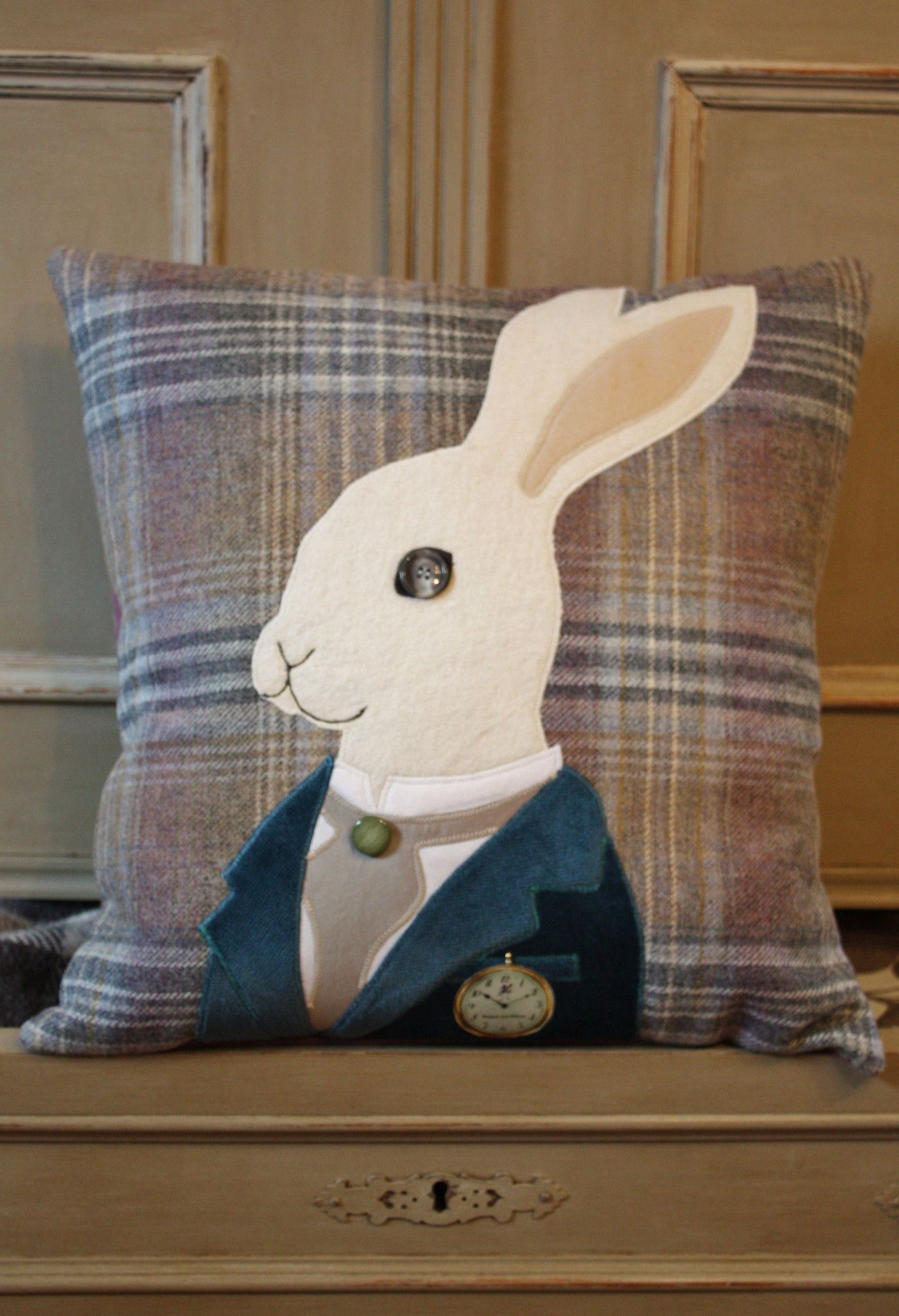 White Rabbit Junior Tweed Cushion - The Cotswold Tailor
