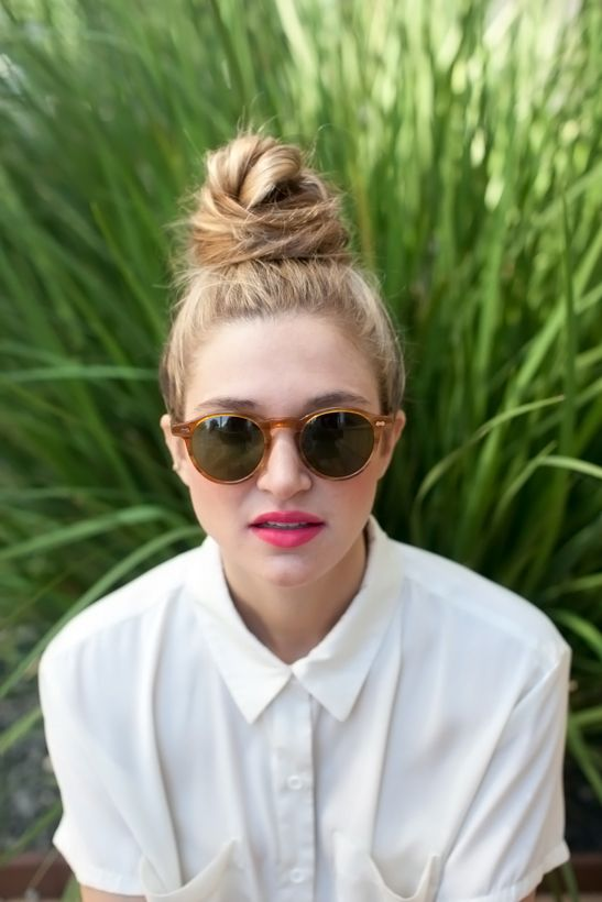 The Perfectly Messy Top Knot - Camille Styles