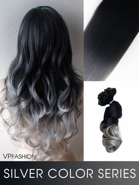 Echthaar extensions ombre look