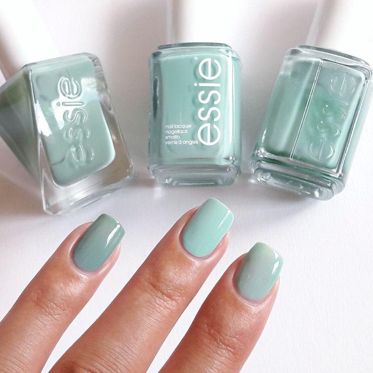 Essie Beauty Nap, Mint Candy Apple und Turquoise & Cacois im ...