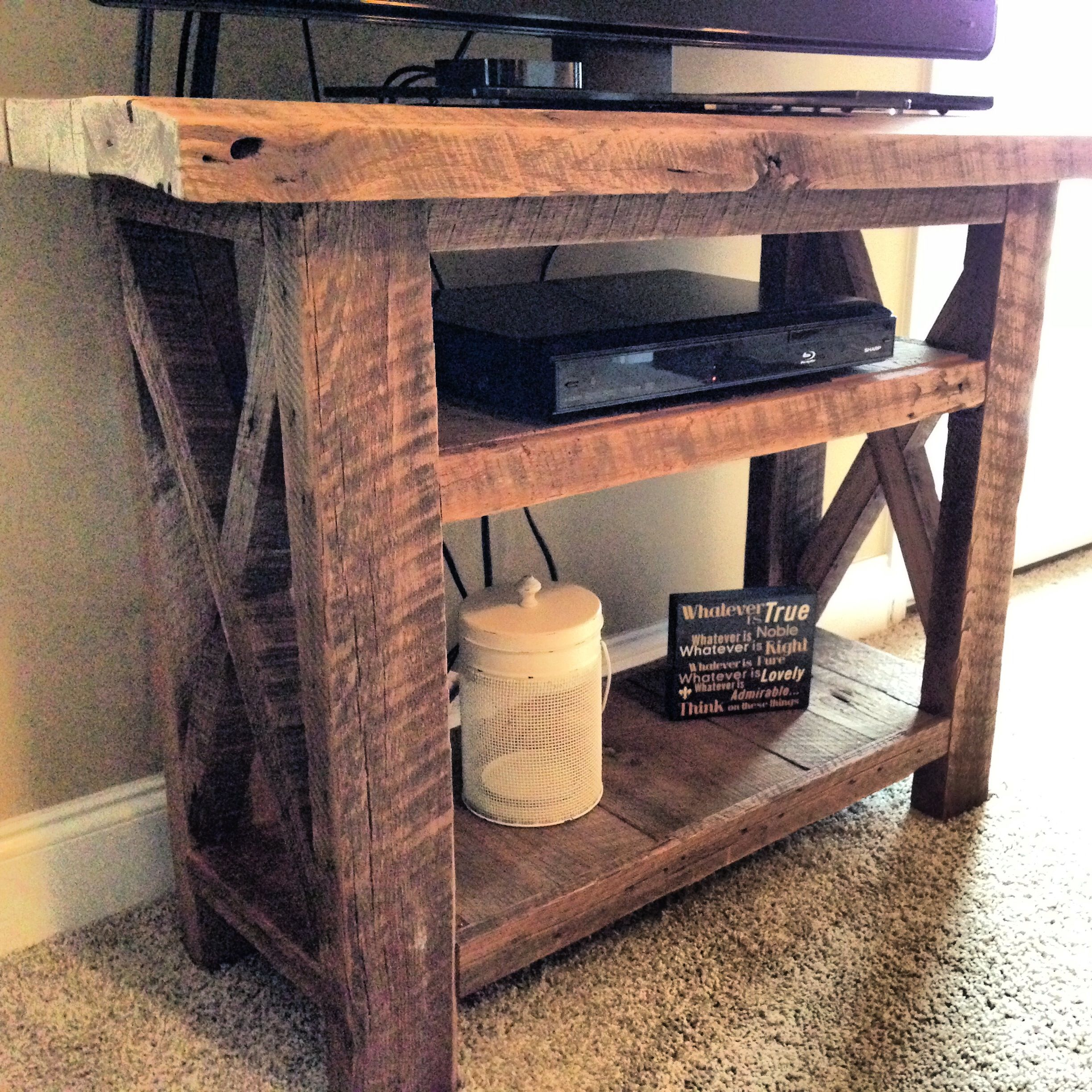 Barn Wood Furniture Ideas: Barn Wood TV Stand. Fits This 42in TV Perfect. We Can