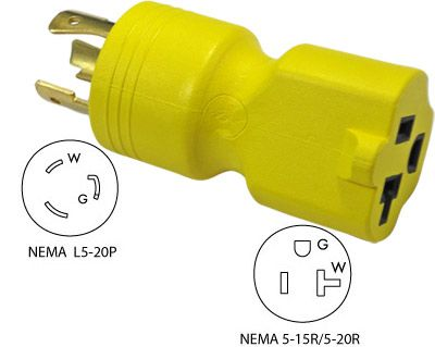 Conntek 30123 3-Prong 20A to 15/20A Generator Plug Adapter. More info: http://conntek.com/products.asp?id=496