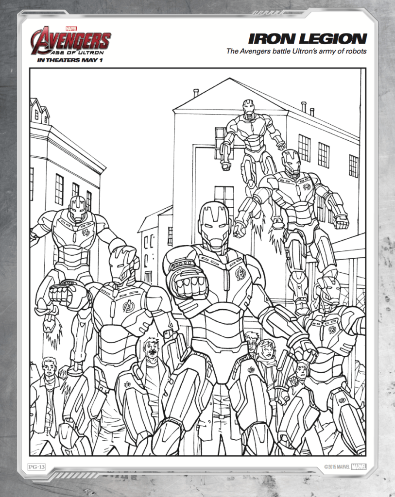 Lego Avengers Age Of Ultron Coloring Pages Design