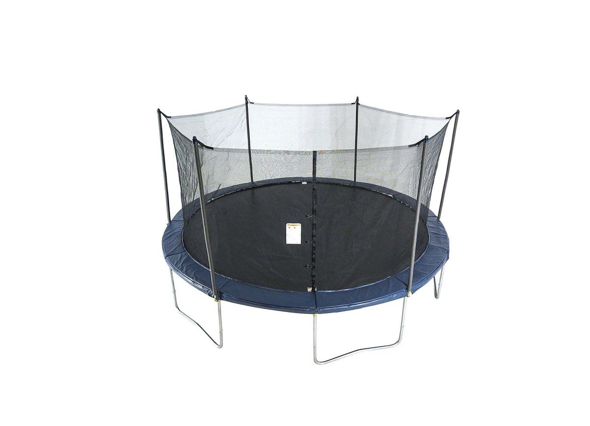 Activplay round trampoline with safety enclosure and