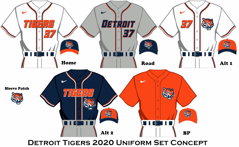 Nike Uniform concept for the Detroit Tigers Detroit tigers