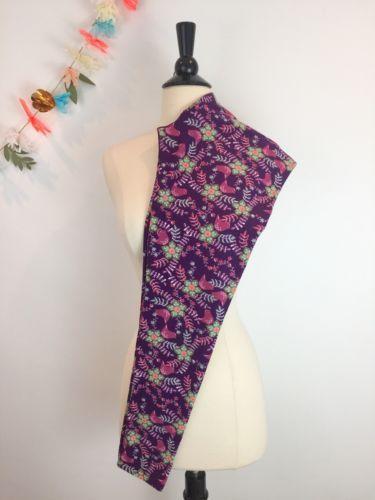LuLaRoe TC Leggings Purple Floral Bird Print Tall & Curvy NEW ...