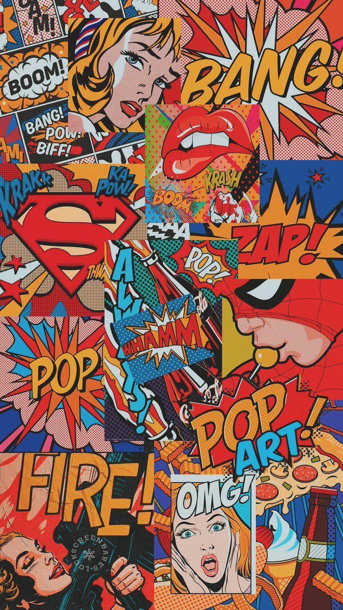 Komik Art Wallpaper Iphone Pop Art Wallpaper Cartoon Wallpaper