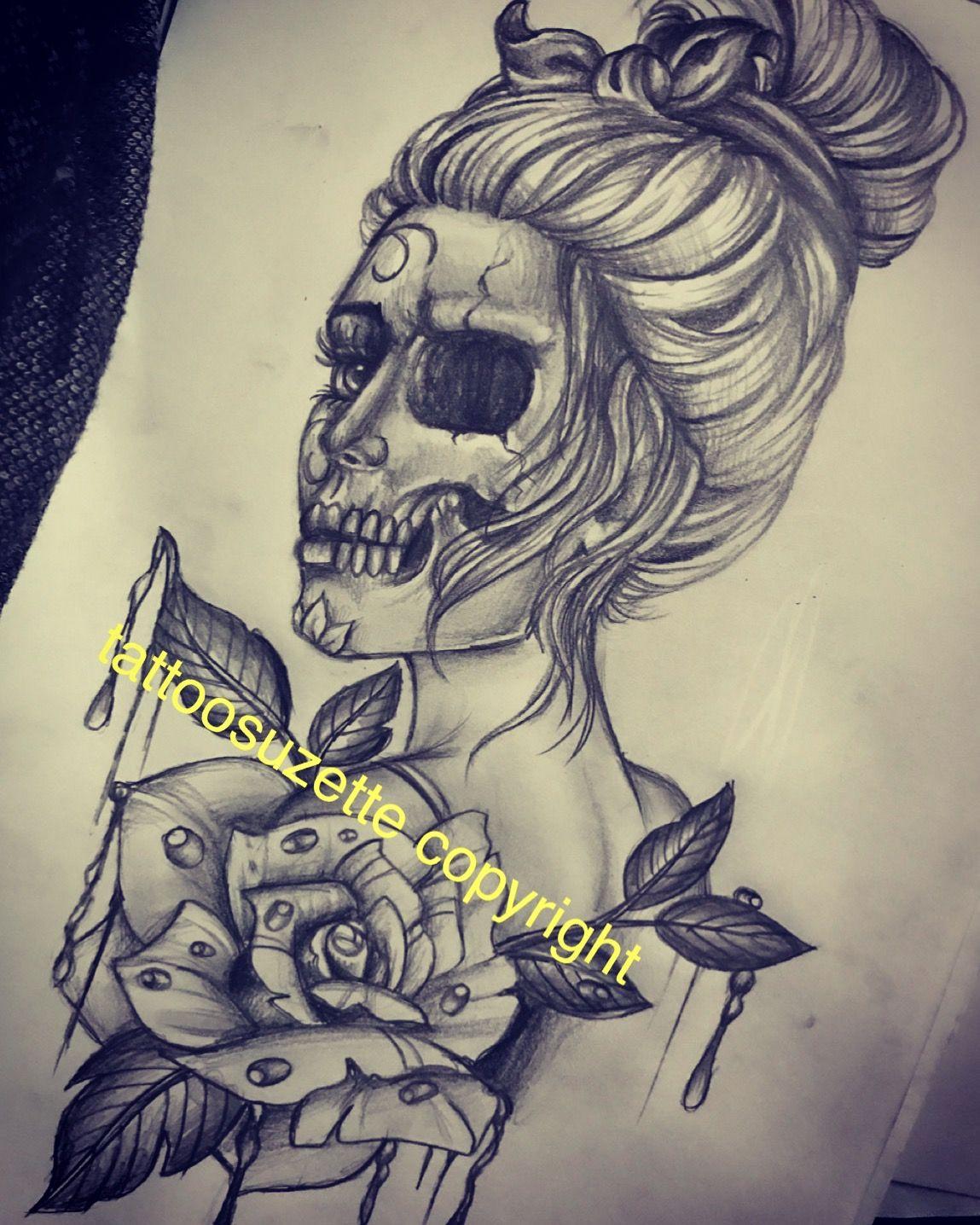 Santa Muerte Tattoo Design Tattoos Tattoos For Women Tattoo Designs