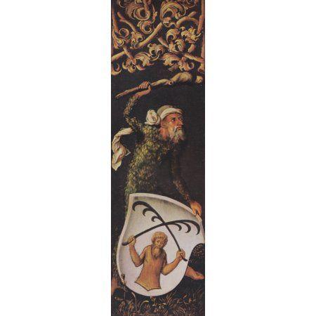 German Painting Krell family coat of arms from shutter 1 Canvas Art - Albrecht DÔø?rer (24 x 36)