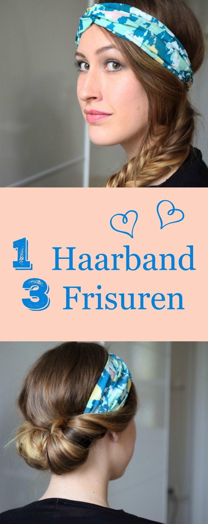1 haarband 3 frisuren wundersch ne frisuren und hairstyles pinterest fischgr tenzopf. Black Bedroom Furniture Sets. Home Design Ideas